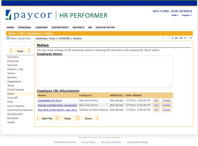 July 2011 Release for HR Performer