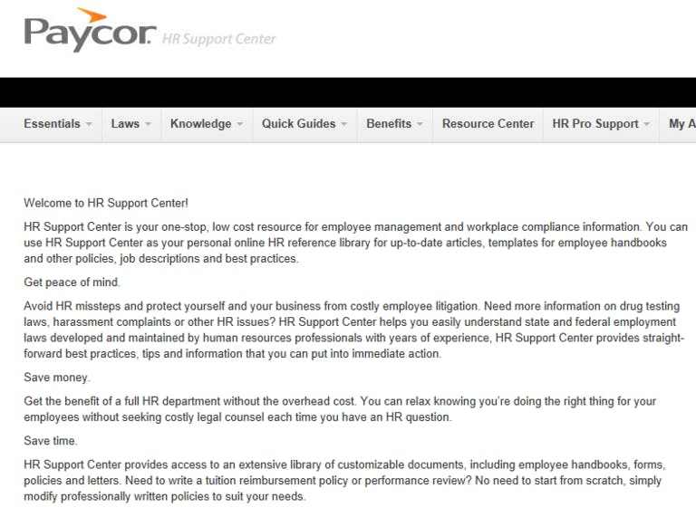 Start 2013 Off Right with HR Support Center