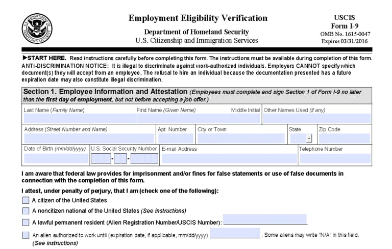 Revised Form I-9 Released