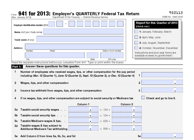 Revised Form 941 Released