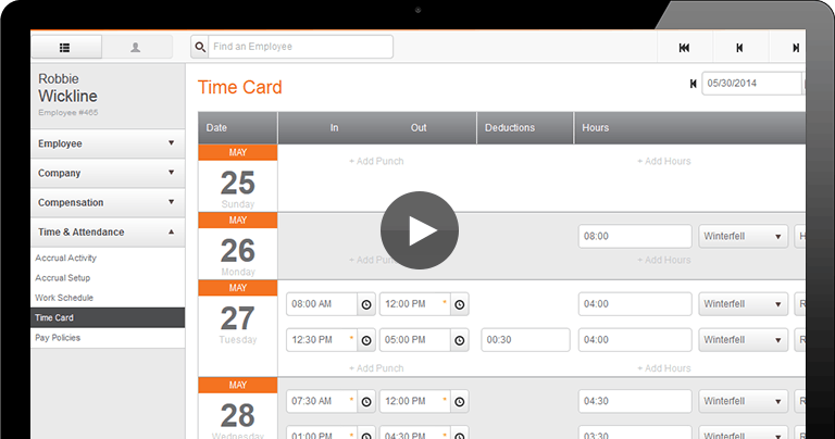 Time & Attendance Tracking Software