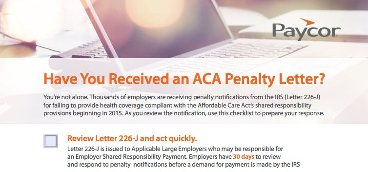 ACA Checklist