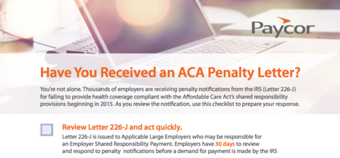 Affordable Care Act Checklist