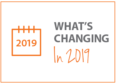 What's Changing in 2019 Infographic