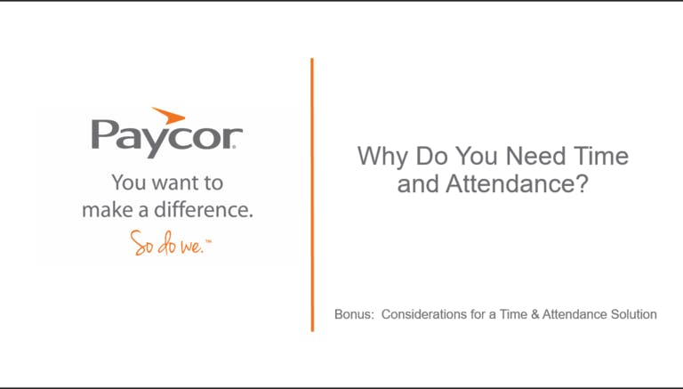 Webinar: Why Do You Need Time and Attendance?