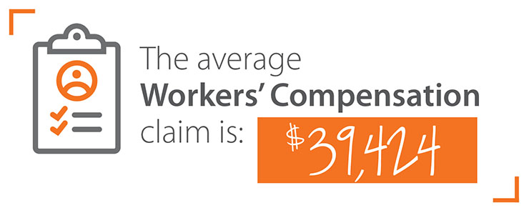 average amount workers compensation claim