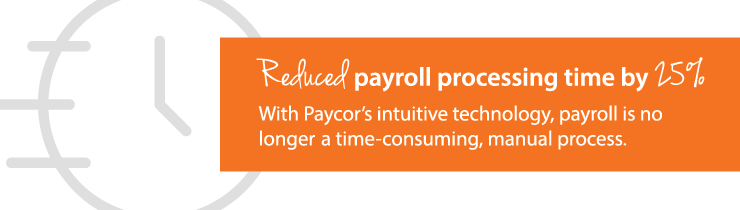 reduction in payroll processing time