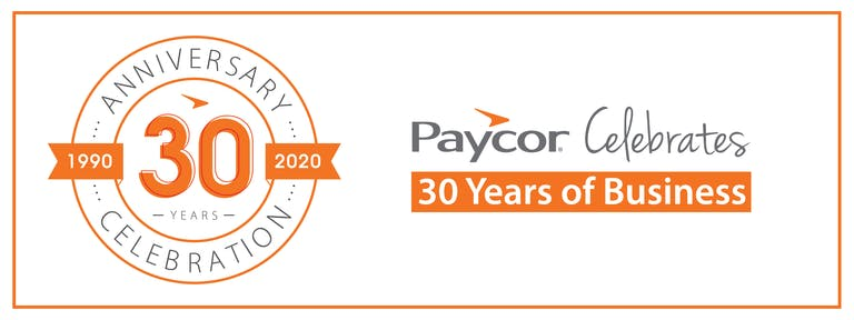 Paycor Celebrates 30 Years of Business
